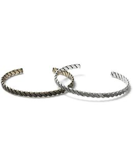 Mixed Metal Cuff Bracelet 2 Pack*