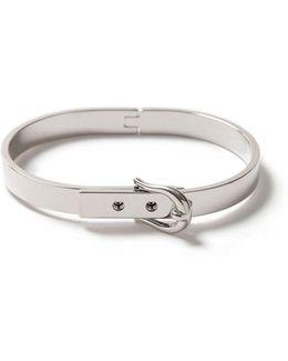 Silver Buckle Bangle Bracelet*