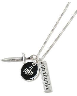 Silver Dagger Necklace*