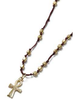 Cross Beaded Cross Necklace