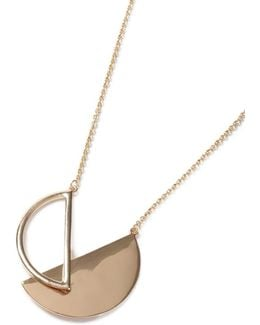 Gold Look Cross Over Semicircle Necklace*