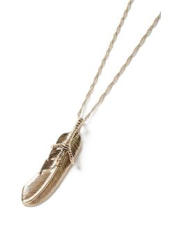 Gold Feather And Claw Necklace