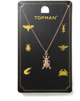 Gold Grasshopper Necklace