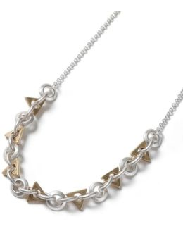 Mixed Geometric Chain Necklace*