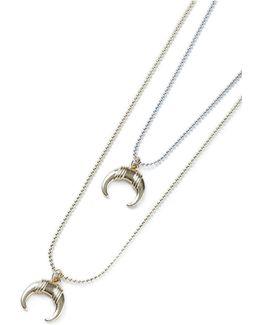 Horn Multirow Necklace*
