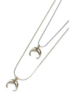 Horn Multirow Necklace*