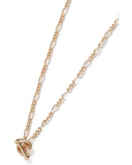 Gold T Bar Chain Necklace
