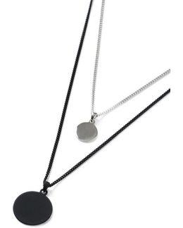 Black Multirow Necklace