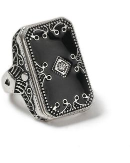 Ornate Jet Ring*