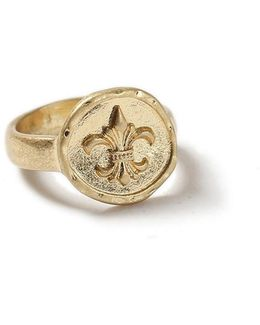 Gold Look Crest Ring*