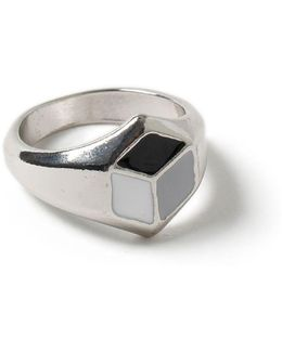 Silver Look Hexagon Ring*