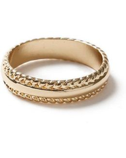 Gold Etched Band Ring*