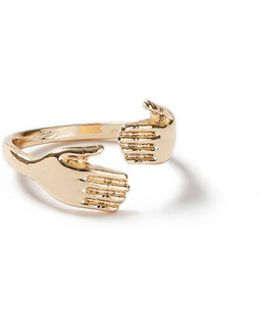 Gold Hand Wrap Ring