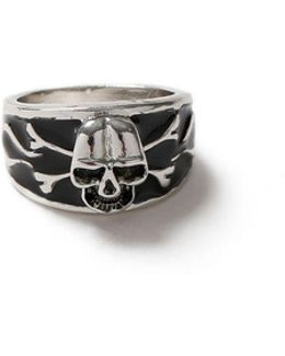 Black And Silver Skull Ring*