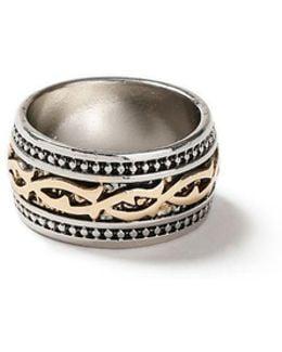 Mixed Metal Thorn Ring