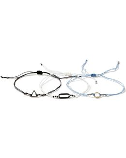 Blue Geometric Bracelet
