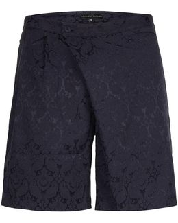 Rogues Of London Navy Patterned Tailored Shorts