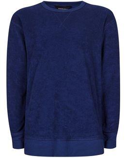 Dark Blue Towelling Sweatshirt