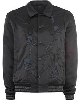 James Bay X Black Embroidered Varsity Jacket
