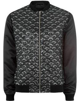James Bay X Black Sequin Bomber Jacket