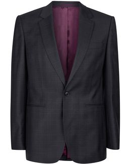 Charlie Casely-hayford X Navy Check Skinny Work Suit Jacket