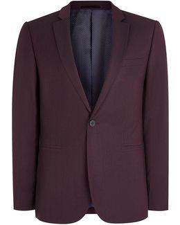 Plumb Skinny Fit Suit Jacket
