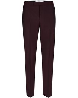 Charlie Casely-hayford X Maroon Skinny Wedding Suit Trousers