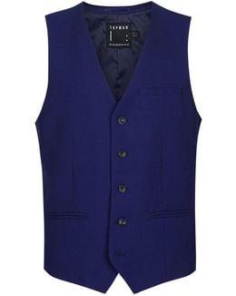 Deep Blue Twill Suit Vest