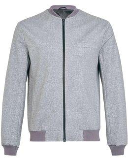 Grey Jersey Bomber Jacket