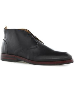 Hudson Black Leather Chukka Boots
