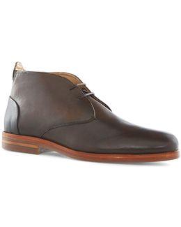 Hudson Brown Leather Chukka Boots