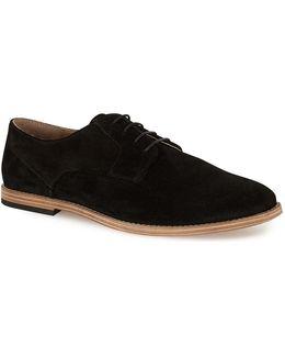 Black Suede Miller Derby Shoes
