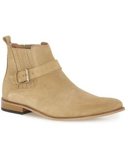 House Of Hounds Tan Suede Strap Boots