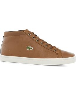 Lacoste Brown Leather Chukka Trainer Boots
