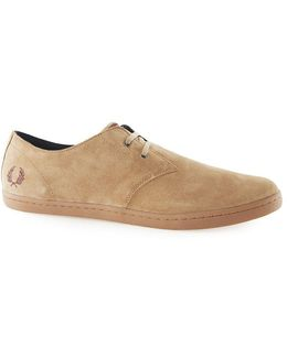 Fred Perry Brown Suede Low Boots