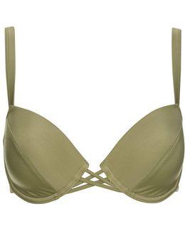Fuller Bust Plunge Bikini Top By