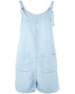 Moto Knot Tie Chambray Playsuit