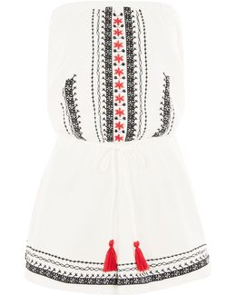 Bandeau Embroidered Playsuit