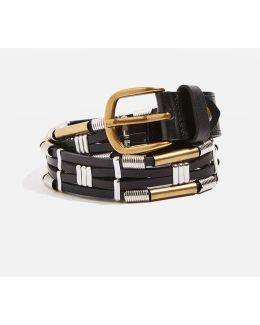 Multi Tube Leather Belt