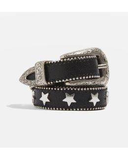Star Stud Skinny Belt