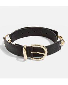 Faux Leather Link Belt