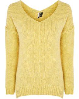 Oversized Wool V-neck Jumper