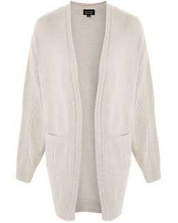 Cable Detail Knit Cardigan