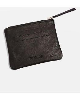 Pat Ziptop Leather Purse