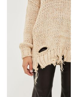 Laddered Knittedjumper By Boutique
