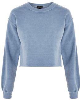 Petite Cropped Sweatshirt