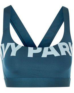 Logo V-back Mesh Bra By