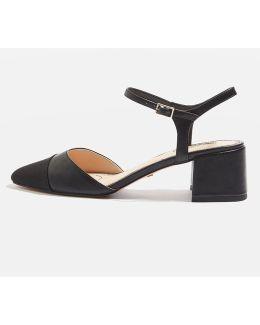 Jolene Toe Cap Block Heels
