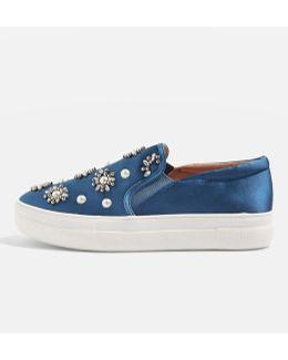 Tilt Embellished Slip On Shoes