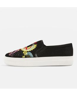 Tactic Bird Embellished Slip-on Trainers